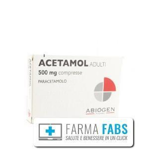 ABIOGEN PHARMA SpA  ACETAMOL ADULTI 20 COMPRESSE 500MG