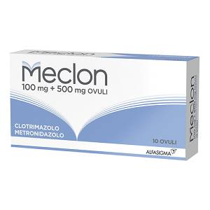 ALFASIGMA SpA MECLON 10 OVULI VAGINALI 100+500MG