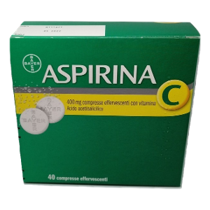 BAYER SpA ASPIRINA C 40 COMPRESSE  EFFERVESCENTI  400+240MG