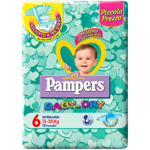 FATER SpA PAMPERS BABY DRY DWCT XL 14PZ