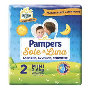 FATER SpA PAMPERS SOLE&LUNA FLASH MINI 21 PEZZI