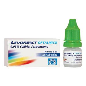 JOHNSON & JOHNSON SpA LEVOREACT OFTALMICO*COLLIRIO 4ML 0,5MG/