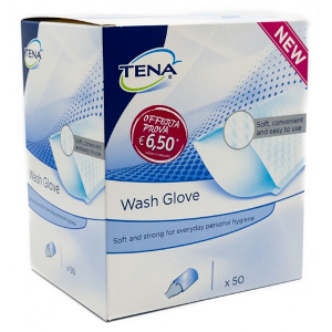 TENA WASH GLOVE 50PZ